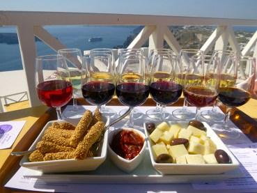 Wine tasting in Pyrgos, Santorini