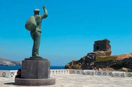 The square of Chora of Andros