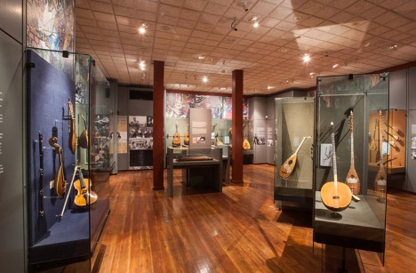The interior of the Greek folk instruments museum