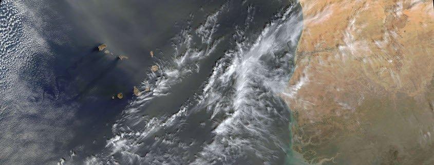 Sand from Sahara over Cape Verde