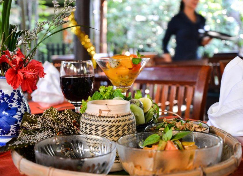 Lao set menu Restaurant - Villa Maydou Boutique Hotel, Luang Prabang