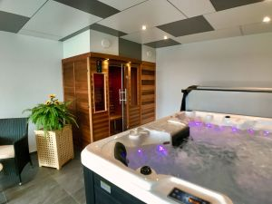 relax in the wellness & spa with jacuzzi and infrared sauna