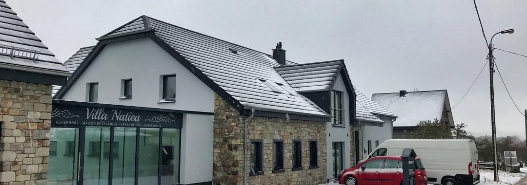 De eerste sneeuw in de Ardennen