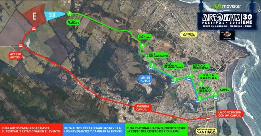 Mapa Surf BeatS 2016 Pichilemu Fundo el Manzano