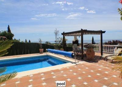 pool and sea views
