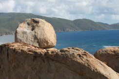 Majestic view of Boulders over Coppermine Bay