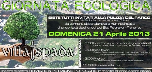 Giornata Ecologica al parco di Villa Spada