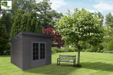 abri jardin composite toit plat 3 x 3 m