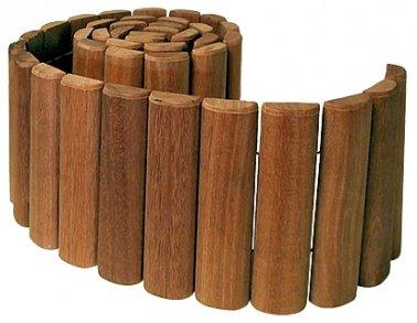 bordure bois exotique en rouleaux