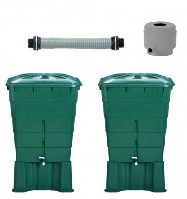 recuperateur d eau kit 2 cuves rect