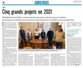 Article du Courrier Picard du 18 janvier 2021
