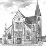 Gravure de l'église de Conty