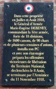 Plaque à la villa Troene, rue Debeney