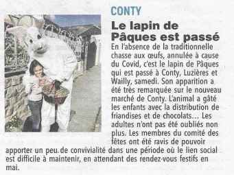 Article du Courrier Picard du 9 avril 2021