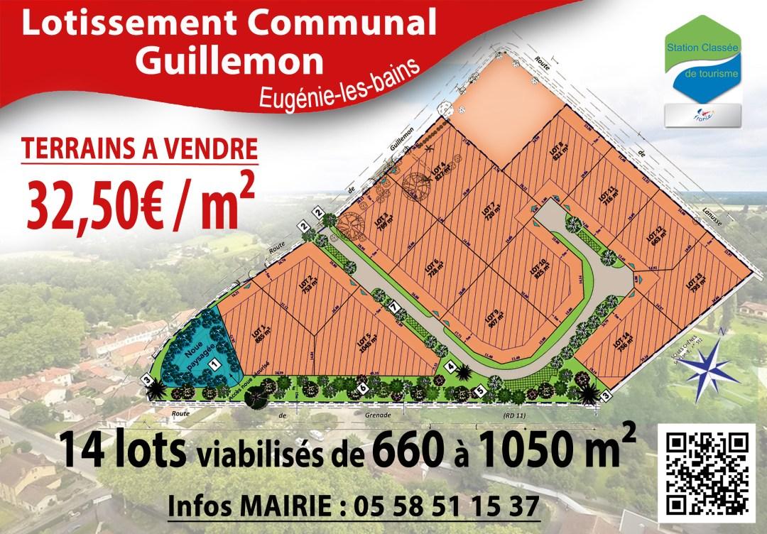 vente terrain lotissement Guillemon