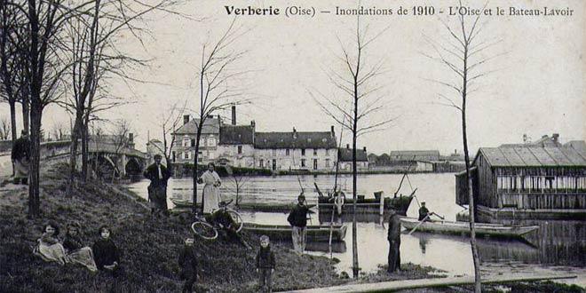 inondations de 1910 à Verberie