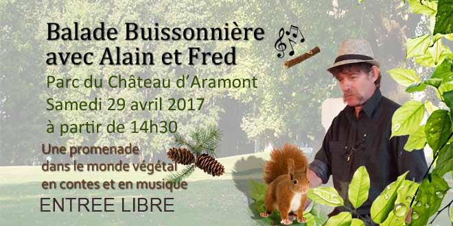Des contes racontés en musique dans le parc du château d'Aramont à la découverte de la nature