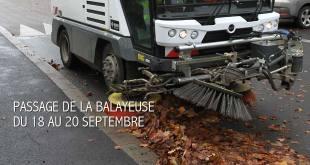 Balayage prévu du 18 au 20 septembre dans les rues de Verberie.