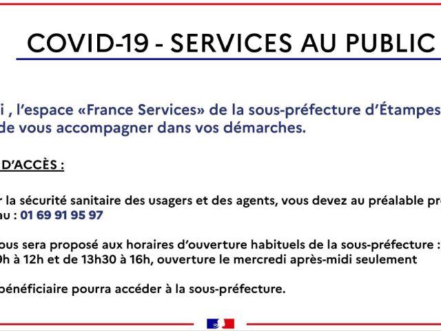 Covid-19 : Réouverture Sous-préfecture Étampes