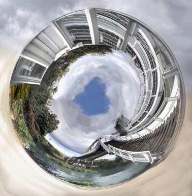 Mireille TEMPEZ - Passerelle tournante - Le Port-Marly
