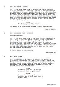 Under the Black Sand - movie screenplay