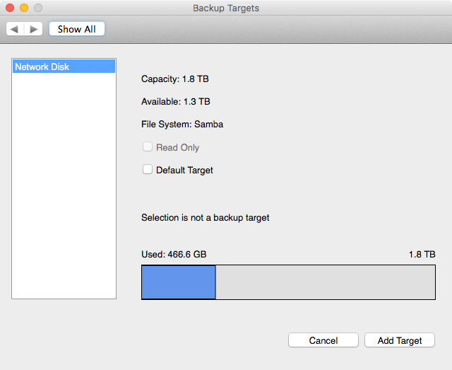 vimalin-configure-backuptarget