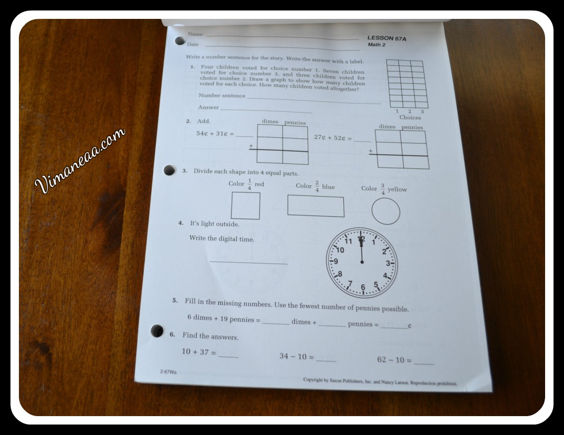 Saxon Math Student Workbook Review | Vimaneaa -A Mom's ...