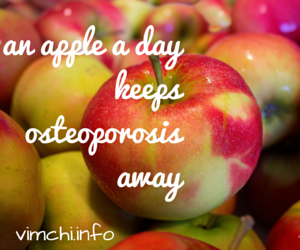 Healthy Food: Apple for Your Osteoporosis