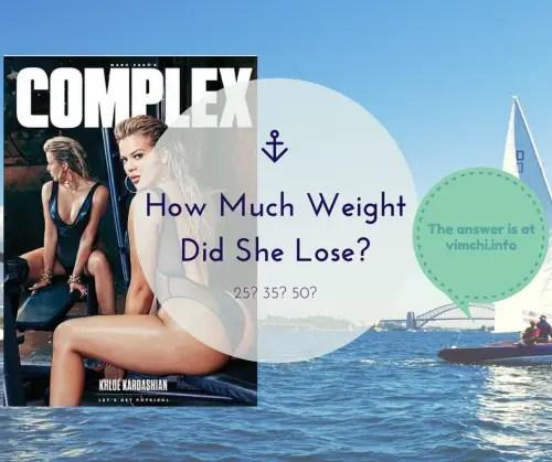 How Much Weight Did Khloe Kardashian Lose?