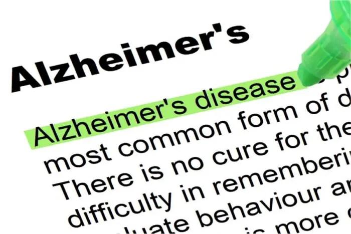 Alzheimer's disease definition