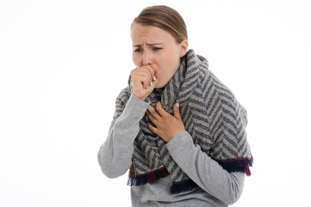 a lady coughing. it could be that she has drug-resistant tuberculosis. she could use the latest drug that treats the deadliest form of TB