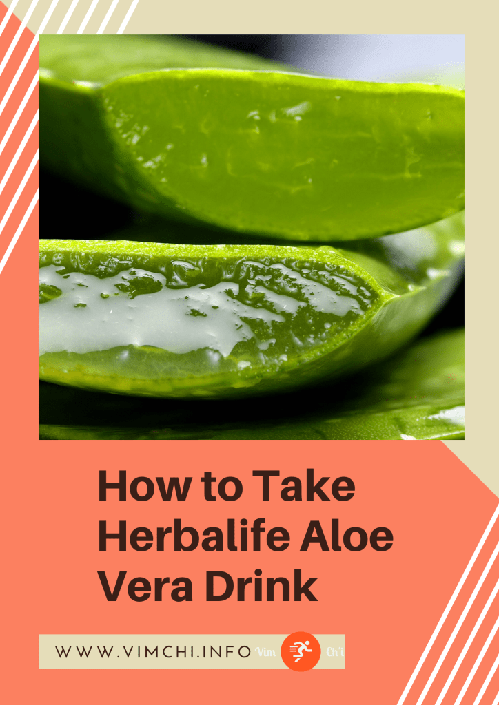how to take herbalife aloe vera drink