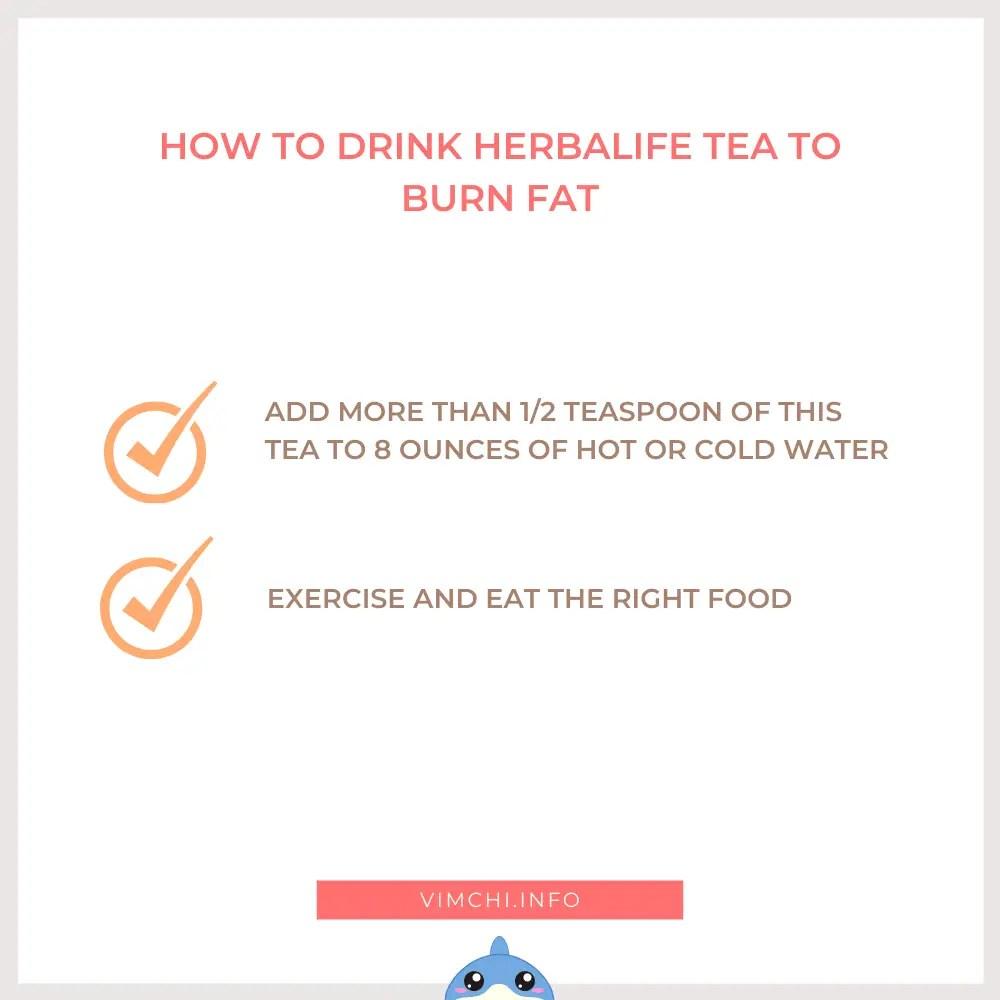 how herbalife tea burn fat - how to drink it