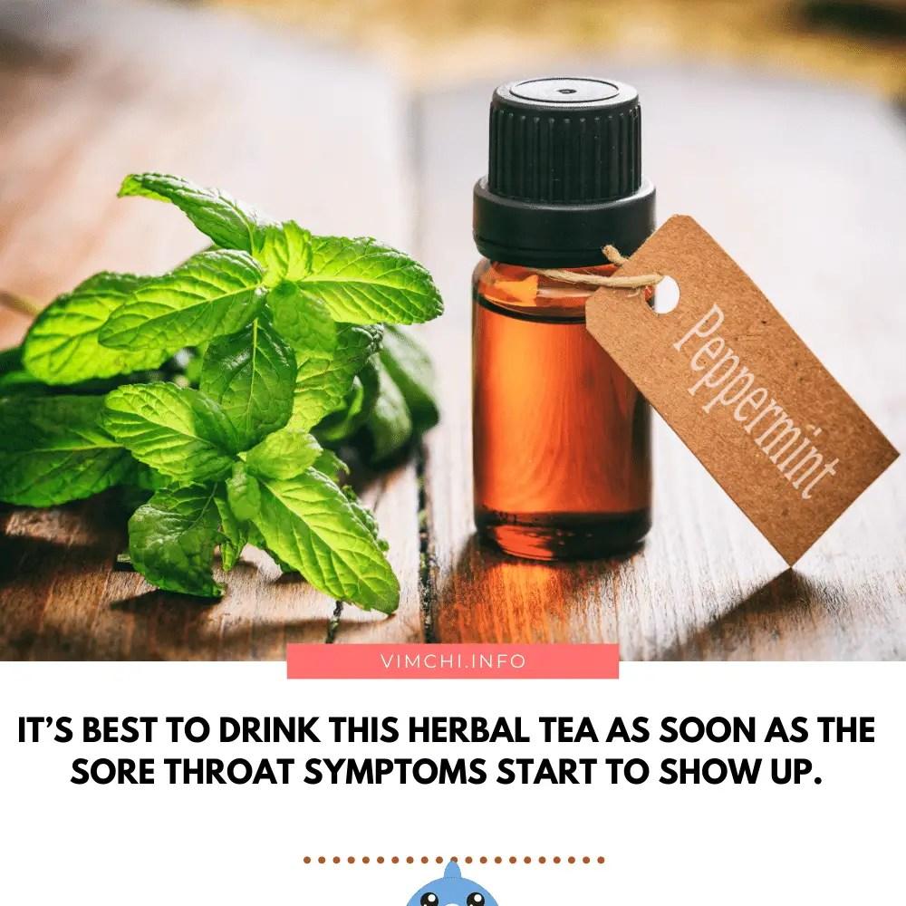 herbal tea for sore throat- peppermint