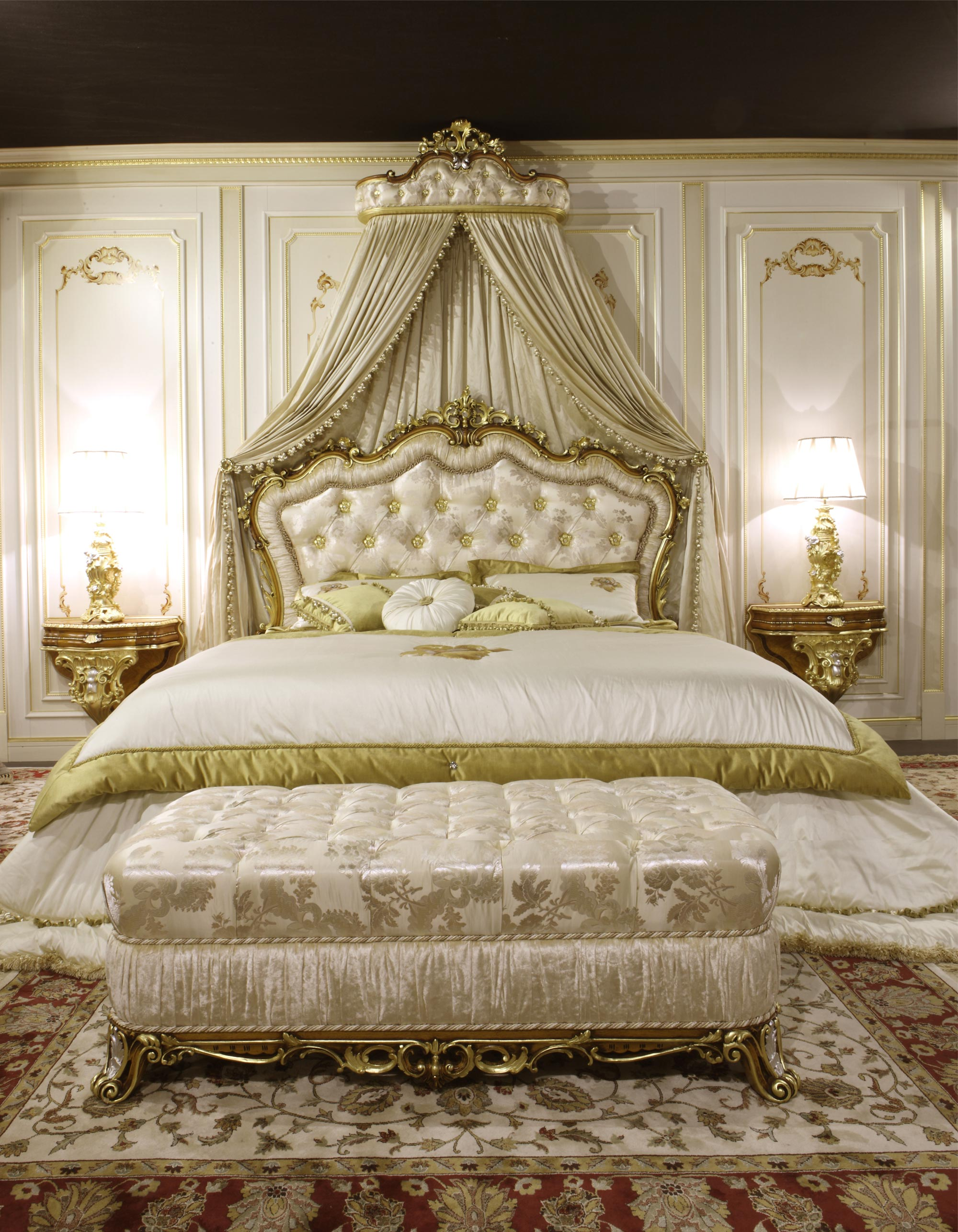 Classic Bench And Baroque Bed Art 2013 Vimercati