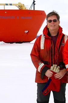 VIMS professor Walker Smith in Antarctica.