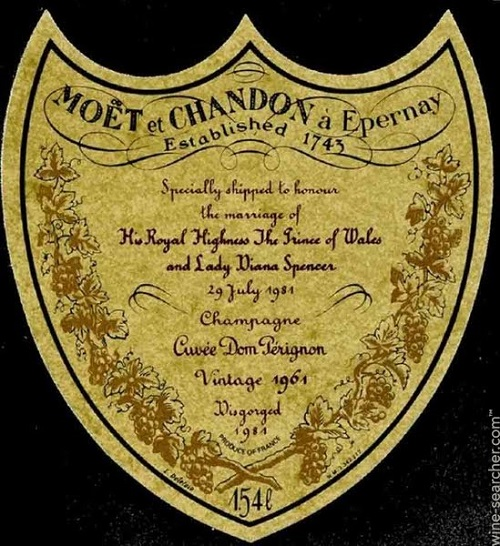 15 Moet & Chandon Dom Perignon Charles & Diana 1961