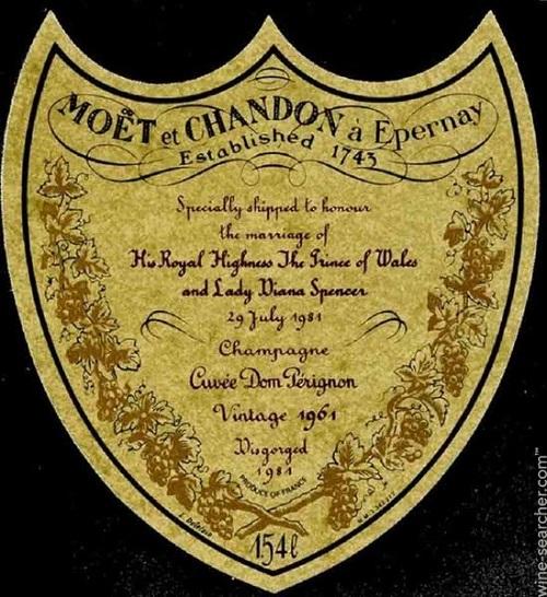 15 Moet & Chandon Dom Perignon Charles & Diana 1961