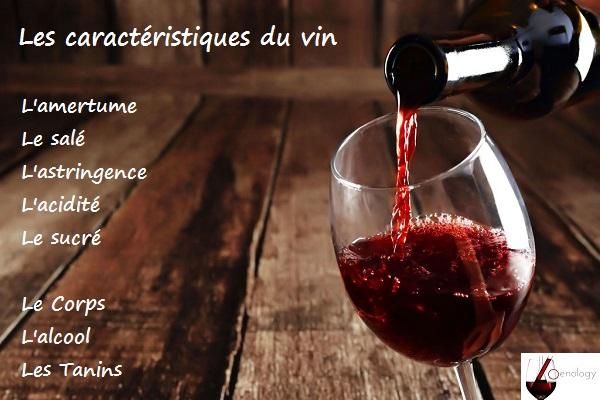 Caractéristiques de base du vin par Vin & Oenologie