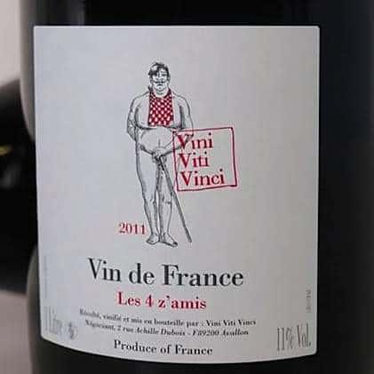 Exemple d'étiquette d'appellation vin de France