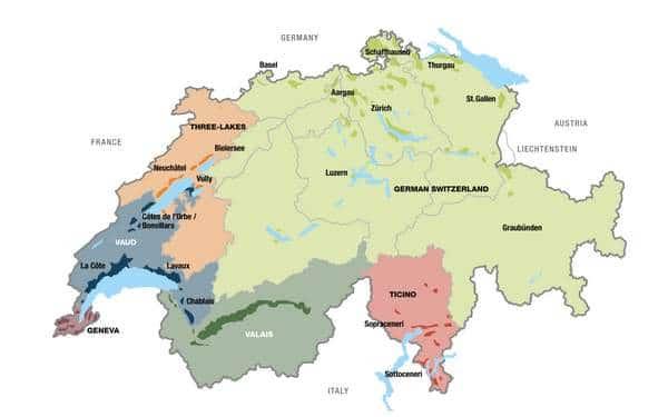 Vin Suisse vignoble et cépages