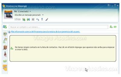 Ventana de Windows Live  Messenger