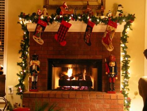 cheminée décorée
