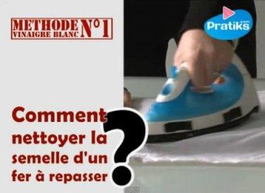 Comment nettoyer la semelle de votre fer à repasser?