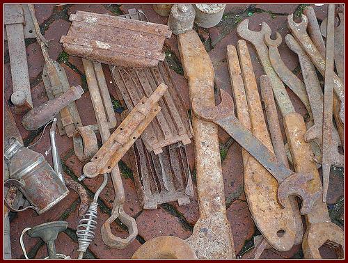 Comment enlever la rouille sur vos outils for Enlever de la rouille