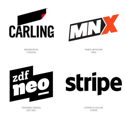 logotipos con paralelogramos