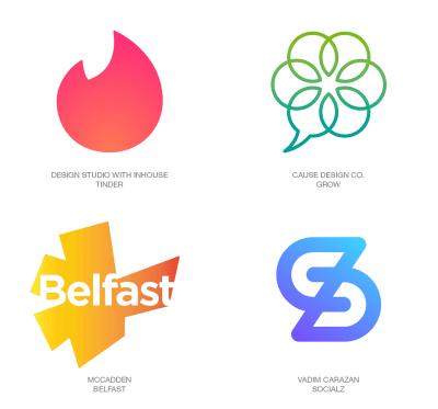 logotipos con degradados de color