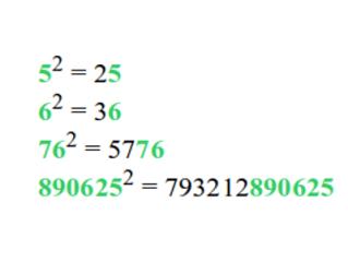 automorphic numbers