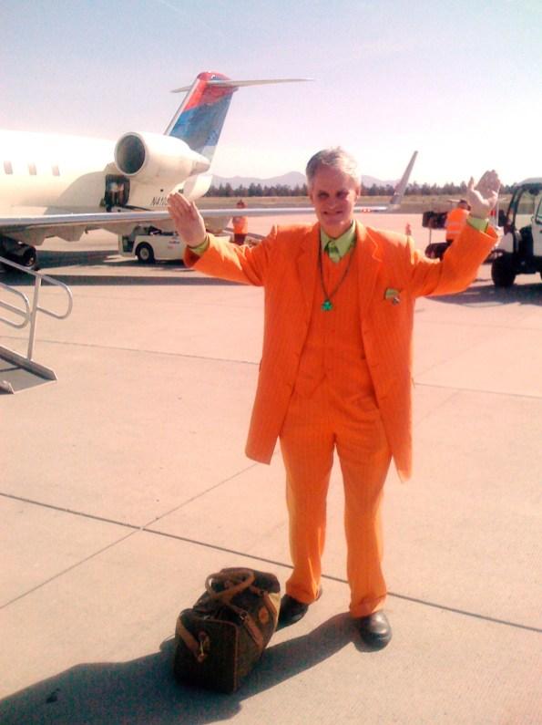An orange landing.