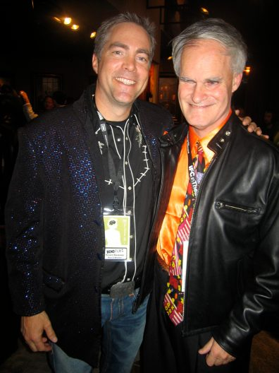 Trading coats with BendFilm board member Scott Ramsay